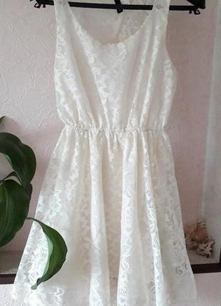 Женское лето divided h&m повседневное нарядное кружевное платье открытая спина коктейльное