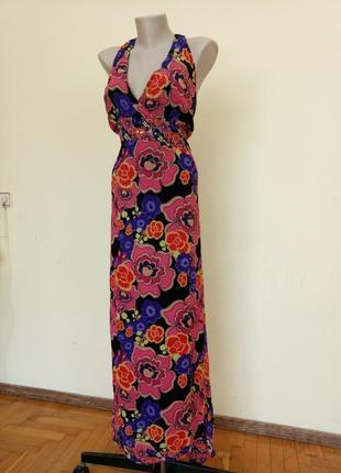 Легкое летнее платье длинное