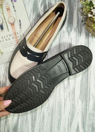 Hotter. англия. кожа. фирменные туфли, лоферы на низком ходу4 фото