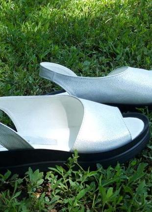 Женские кожаные босоножки в-30-1 бел