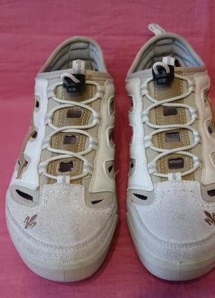 Фирменные летние кожаные кроссовки rieker (оригинал) - 38 размер