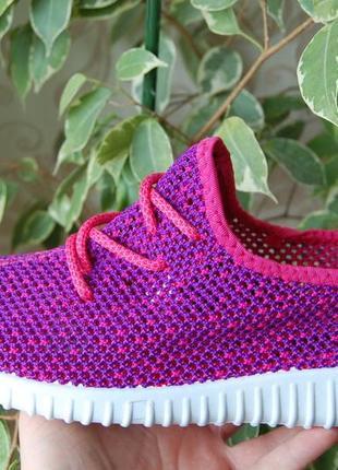 Акция летние кроссовки сетка кеды фиолетовые