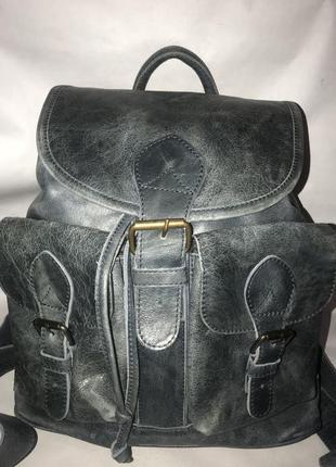661d409b4ba3 Большой кожаный городской, дорожный рюкзак унисекс odilynch. com.