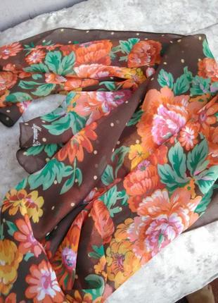 Шикарный шёлковый шарф marina deste