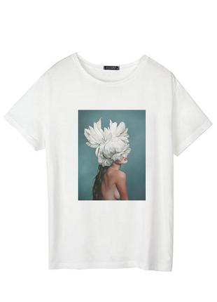 Женская футболка с цветочным принтом