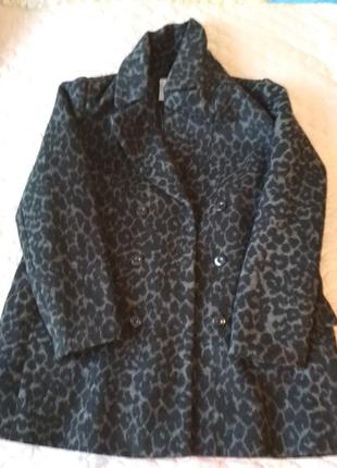 Леопардовое стильное пальто!