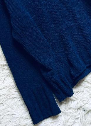 Плюшевый синий свитер оверсайз2 фото