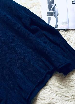 Плюшевый синий свитер оверсайз4 фото