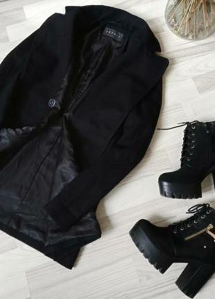 Только сутки такая цена!!!шеостяное пальто прямого кроя esprit ( кашемир)2 фото