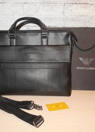 Мужской портфель сумка , кожа в стиле armani, италия 9832-2