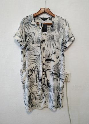 """Стильное платье - рубаха """" сафари """" большого размера"""
