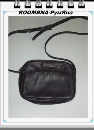 Удобная актуальная функциональная  сумка crossbody 100% кожа известный дорогой бренд