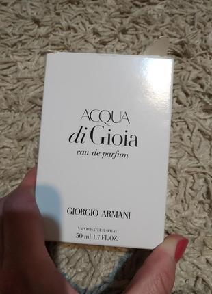 Armani acqua di gioia женский аромат (новый тестер)
