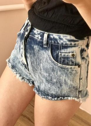 Шикарні джинсові шорти з високою посадкою, шортики