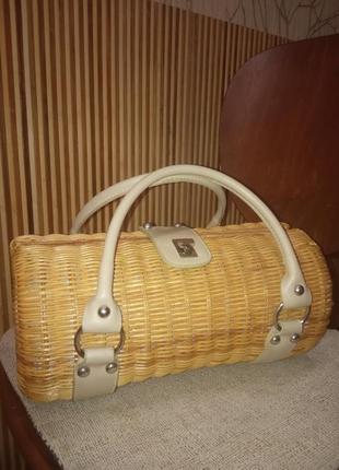 Плетеная сумка стильная