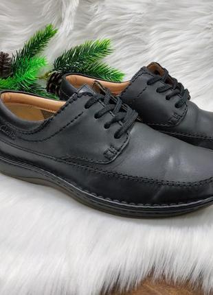 Кожаные туфли clarks ( 42 размер )