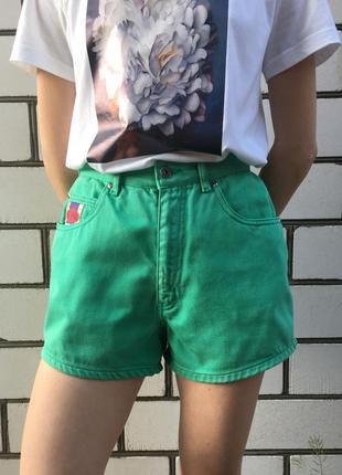 Винтажные итальянские джинсовые шорты chewan высокая посадка