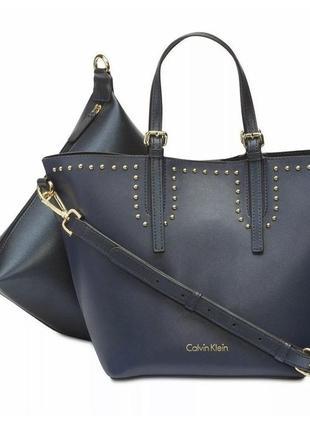 Новая женская синяя сумка кельвин кляйн calvin klein1 фото