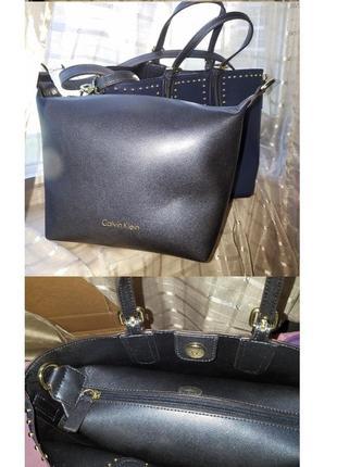 Новая женская синяя сумка кельвин кляйн calvin klein3 фото