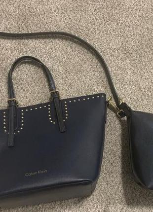 Новая женская синяя сумка кельвин кляйн calvin klein4 фото