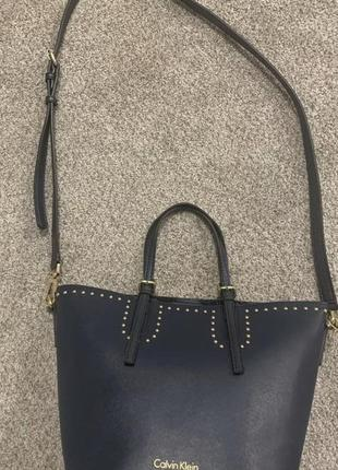 Новая женская синяя сумка кельвин кляйн calvin klein5 фото