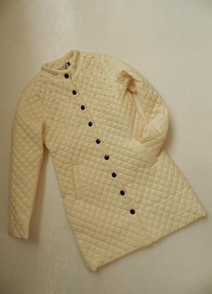 ✅ тонкое стёганое пальто с жемчугом