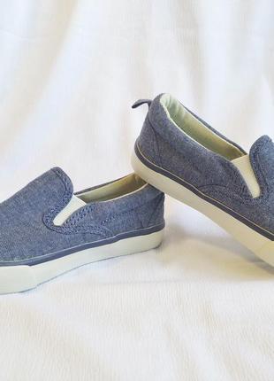 Мокасины детские, джинсовые, синие gap