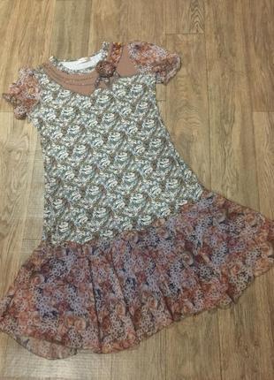 Красивущее ,нарядное летнее платье vanessa,стразы!54 р