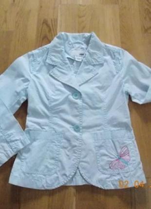 Фирменный летний пиджак h&m р-р104.германия1 фото