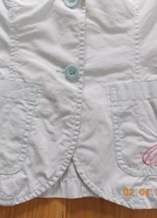 Фирменный летний пиджак h&m р-р104.германия2 фото