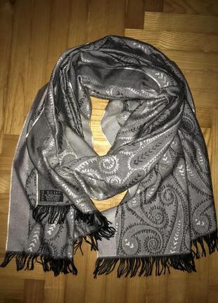 Большой красивый шарф палантин в пейсли от silky!