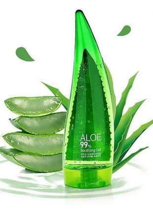 Успокаивающая гидрогелевая маска с алоэ  holika holika aloe 99% soothing gel