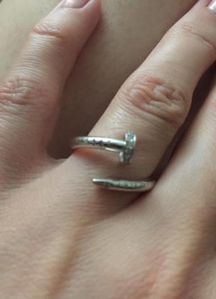 Кольцо гвоздь золото2 фото