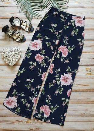 Шикарные летние широкие цветочные брюки с высокой талией4 фото