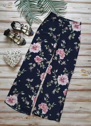 Шикарные летние широкие цветочные брюки с высокой талией9 фото