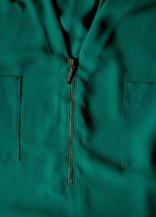 Красивая элегантная зеленая блуза george, размер 5xl3 фото