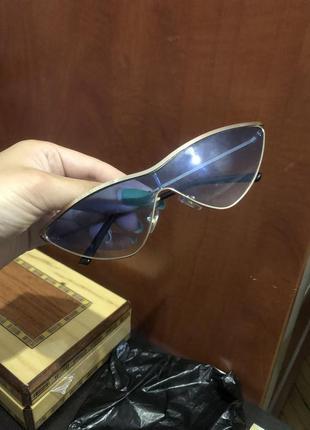 Очки трендовые модные  голубые солнцезащитные1 фото