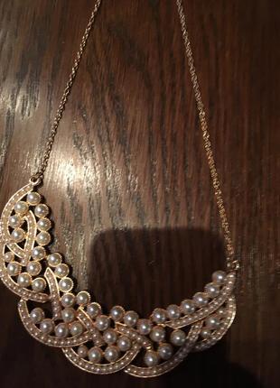 Женственное жемчужное летнее ожерелье чокер колье5 фото