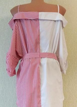 Платье рубашка в полоску3 фото