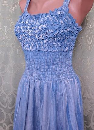 Джинсовый сарафан женский макси3 фото