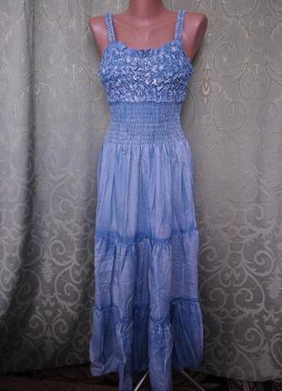 Джинсовый сарафан женский макси2 фото