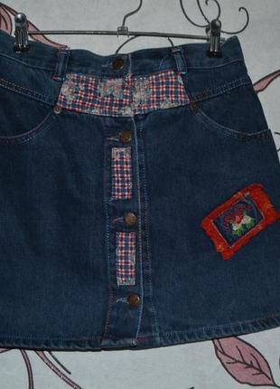 Стильна джинсова спідниця2 фото