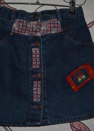 Стильна джинсова спідниця4 фото