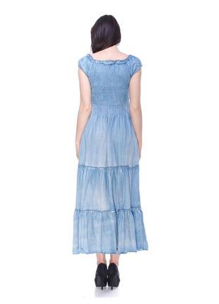 Джинсовый сарафан-платье женский макси3 фото