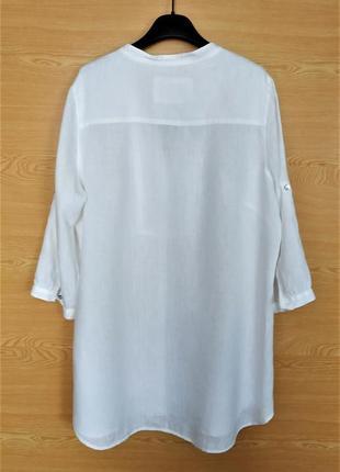 Льняная рубашка marks&spencer.2 фото