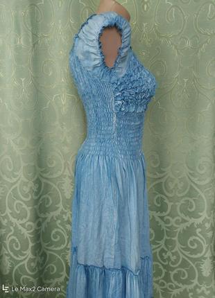 Джинсовый сарафан-платье женский макси6 фото