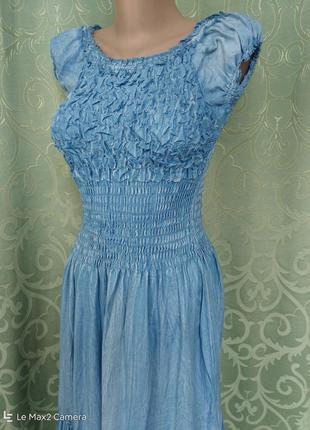 Джинсовый сарафан-платье женский макси7 фото