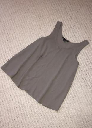 Серая блуза на бретелях1 фото