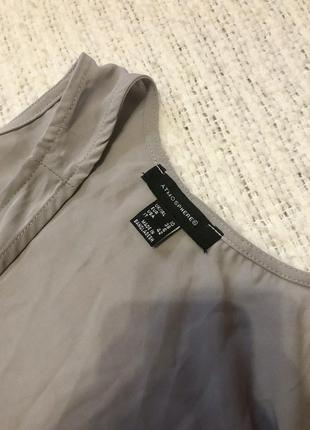 Серая блуза на бретелях2 фото