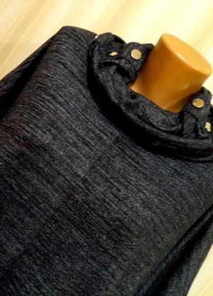 Blue vanilla платье\туника\кофта\балахон.асимметричная длина.меланж. рр м\л можно больше2 фото